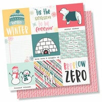 Simple Stories - Freezin' Season Collection - 12 x 12 Double Sided Paper - 4 x 4 Elements