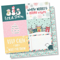 Simple Stories - Freezin' Season Collection - 12 x 12 Double Sided Paper - 4 x 6 Horizontal Elements