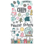 Simple Stories - Freezin' Season Collection - Chipboard Stickers