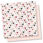 Simple Stories - Kissing Booth Collection - 12 x 12 Double Sided Paper - Love Day