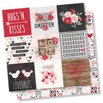 Simple Stories - Kissing Booth Collection - 12 x 12 Double Sided Paper - 4 x 4 Elements
