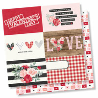 Simple Stories - Kissing Booth Collection - 12 x 12 Double Sided Paper - 4 x 6 Horizontal Elements