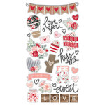 Simple Stories - Kissing Booth Collection - Chipboard Stickers