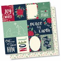 Simple Stories - Peace on Earth Collection - Christmas - 12 x 12 Double Sided Paper - 3 x 4 and 4 x 6 Elements