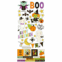 Simple Stories - Happy Halloween Collection - Cardstock Stickers