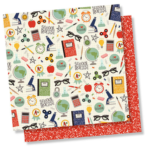 Simple Stories - School Rocks Collection - 12 x 12 Double Sided Paper - I Love School