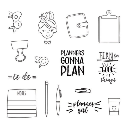 Carpe Diem - Clear Acrylic Stamps - Plan It