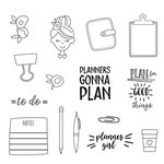 Simple Stories - Carpe Diem - Clear Acrylic Stamps - Plan It