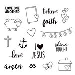 Simple Stories - Carpe Diem - Clear Acrylic Stamps - Faith