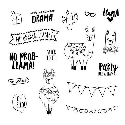 Carpe Diem - Clear Acrylic Stamps - No Prob-Llama