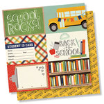 Simple Stories - School Rocks Collection - 12 x 12 Double Sided Paper - 4 x 6 Horizontal Elements