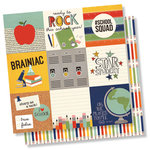 Simple Stories - School Rocks Collection - 12 x 12 Double Sided Paper - 4 x 4 Elements