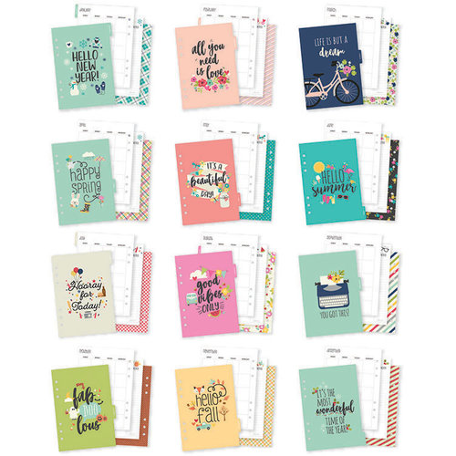 Carpe Diem - Seasons Collection - A5 Planner - Inserts - Monthly - Undated