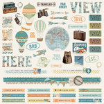Simple Stories - Simple Vintage Traveler Collection - 12 x 12 Cardstock Stickers - Combo