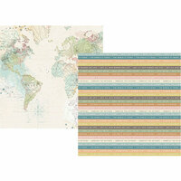 Simple Stories - Simple Vintage Traveler Collection - 12 x 12 Double Sided Paper - Off the Grid