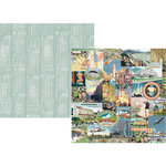 Simple Stories - Simple Vintage Traveler Collection - 12 x 12 Double Sided Paper - Wanderlust