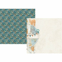 Simple Stories - Simple Vintage Traveler Collection - 12 x 12 Double Sided Paper - Explore and Discover