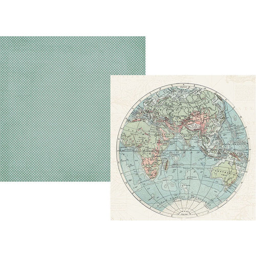 Simple Stories - Simple Vintage Traveler Collection - 12 x 12 Double Sided Paper - Hello World