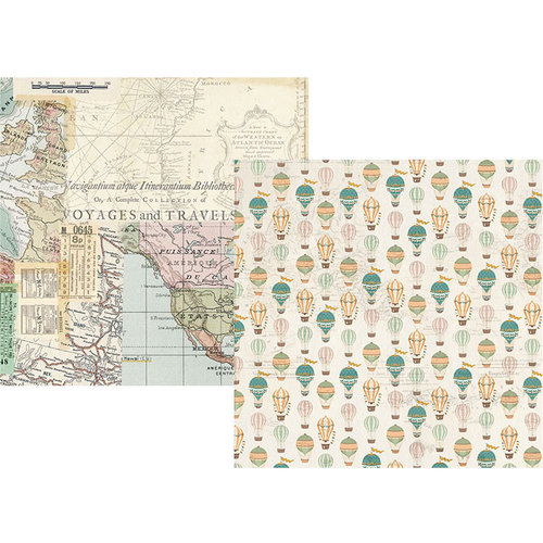 Simple Stories - Simple Vintage Traveler Collection - 12 x 12 Double Sided Paper - Enjoy the View