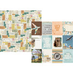 Simple Stories - Simple Vintage Traveler Collection - 12 x 12 Double Sided Paper - 3 x 4 Elements