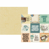 Simple Stories - Simple Vintage Traveler Collection - 12 x 12 Double Sided Paper - 4 x 4 Elements