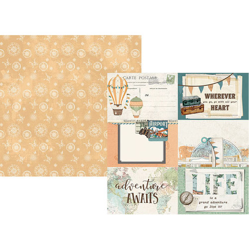 Simple Stories - Simple Vintage Traveler Collection - 12 x 12 Double Sided Paper - 4 x 6 Elements