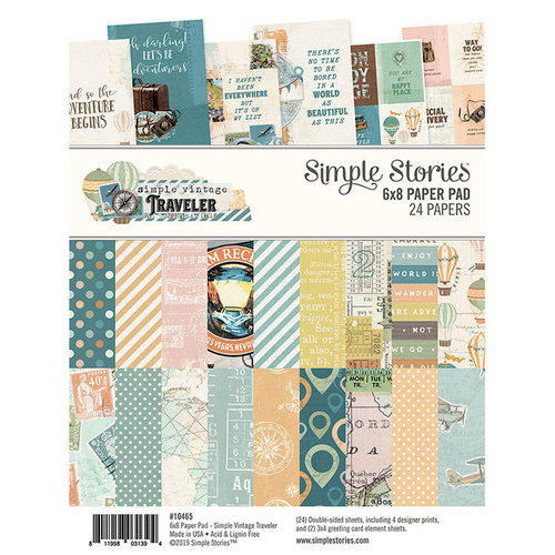 Simple Stories - Simple Vintage Traveler Collection - 6 x 8 Paper Pad