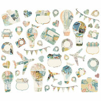 Simple Stories - Simple Vintage Traveler Collection - Bits and Pieces - Collage