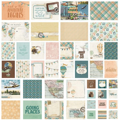 Simple Stories - Simple Vintage Traveler Collection - SNAP Cards