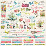 Simple Stories - Simple Vintage Botanicals Collection - 12 x 12 Cardstock Stickers - Combo