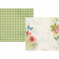 Simple Stories - Simple Vintage Botanicals Collection - 12 x 12 Double Sided Paper - Embrace Life