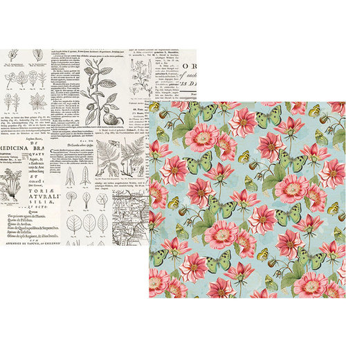 Simple Stories - Simple Vintage Botanicals Collection - 12 x 12 Double Sided Paper - Beautiful Day