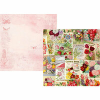 Simple Stories - Simple Vintage Botanicals Collection - 12 x 12 Double Sided Paper - Scatter Kindness