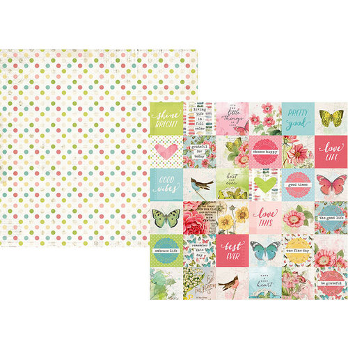 Simple Stories - Simple Vintage Botanicals Collection - 12 x 12 Double Sided Paper - 2 x 2 Elements
