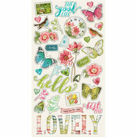 Simple Stories - Simple Vintage Botanicals Collection - Chipboard Stickers