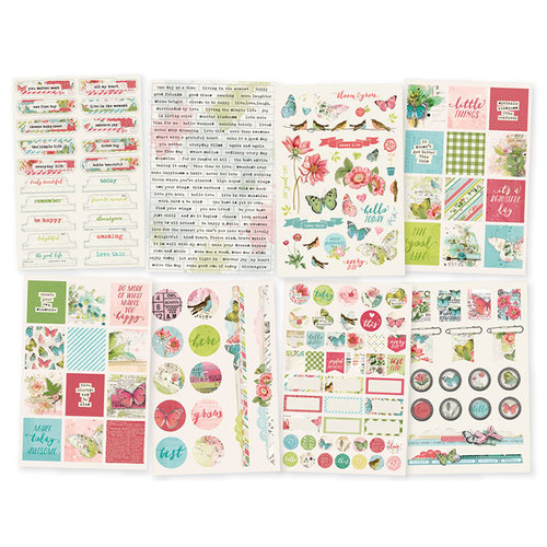 Simple Stories - Simple Vintage Botanicals Collection - Cardstock Stickers
