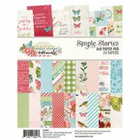 Simple Stories - Simple Vintage Botanicals Collection - 6 x 8 Paper Pad