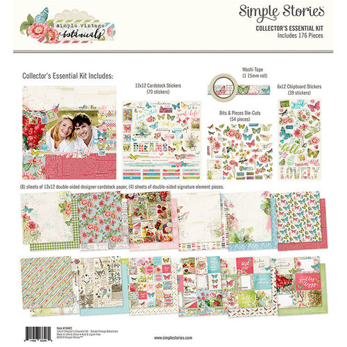 Simple Stories - Simple Vintage Botanicals Collection - 12 x 12 Collector's Essential Kit