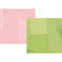 Simple Stories - Simple Vintage Botanicals Collection - 12 x 12 Double Sided Paper - Green and Pink