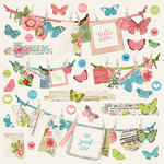 Simple Stories - Simple Vintage Botanicals Collection - 12 x 12 Cardstock Stickers - Banner