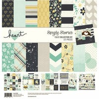 Simple Stories - Heart Collection - 12 x 12 Collection Kit with Foil Accents