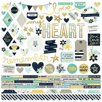 Simple Stories - Heart Collection - 12 x 12 Cardstock Stickers - Combo