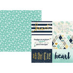 Simple Stories - Heart Collection - 12 x 12 Double Sided Paper with Foil Accents - 4 x 6 Elements