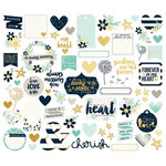 Simple Stories - Heart Collection - Bits and Pieces with Foil Accents