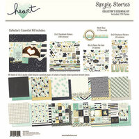 Simple Stories - Heart Collection - 12 x 12 Collector's Essential Kit with Foil Accents