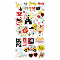 Simple Stories - Say Cheese 4 Collection - Chipboard Stickers