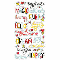 Simple Stories - Say Cheese 4 Collection - Chipboard Stickers - Words