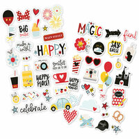 Simple Stories - Say Cheese 4 Collection - Puffy Stickers