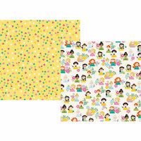 Simple Stories - Little Princess Collection - 12 x 12 Double Sided Paper - Hello Princess