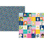 Simple Stories - Little Princess Collection - 12 x 12 Double Sided Paper - 2 x 2 Elements